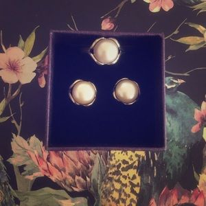 Tahitian Pearl Earring and Ring Set